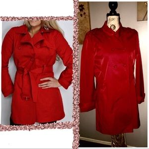Kenneth Cole red hot light weather  coat
